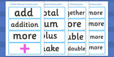 Y3 Maths Calculation Vocabulary Cards