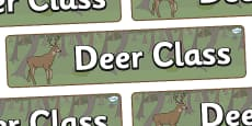 Deer Themed Classroom Display Banner
