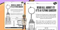 News Report Activity to Support Teaching on James and the Giant Peach