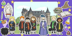 Wizard School Display Cut Outs