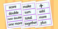Maths Calculations Word Cards