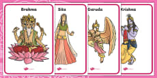 Hindu Gods Display Posters