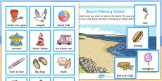 Beach Memory Game