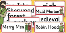 Robin Hood Word Cards