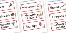 Kangaroo Themed Editable Writing Area Resource Labels