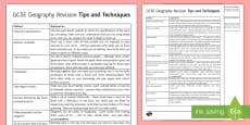 GCSE Geography Revision Tips and Techniques
