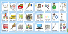 Year One And Two Visual Timetable