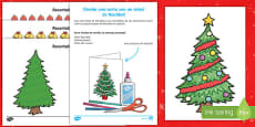 Design Your Own Christmas Tree Christmas Card Spanish