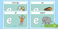 Initial 'e' Sound Playdough Mats