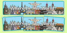 Where In The World Display Banner