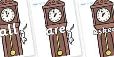 Tricky Words on Clocks