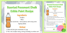 Scented Pavement Chalk Edible Paint Recipe