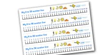 0-30 Number Line (Light and Dark)