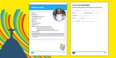 French Olympic Athletes Yohann Diniz Gap Fill Activity Sheet