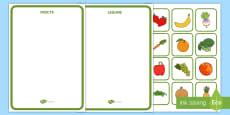 Fructe și legume Activitate de sortare