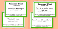 Guided Reading Skills Task Cards Cause and Effect Polish Translation