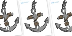 Numbers 0-100 on Anchors