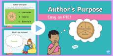 Author's Purpose Easy as PIE PowerPoint