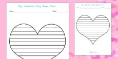 Australia - Valentine's Day Shape Poetry Template