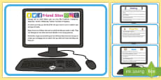Different Kinds of Online Internet Safety Display Posters