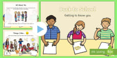 Back to School: All About Me Early Level PowerPoint