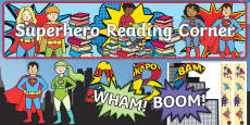 Reading Corner Superhero Themed Display Pack