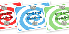 Editable Class Group Table Signs (Colour Books)