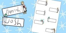 The Snow Queen Editable Self Registration