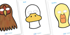 The Ugly Duckling Story Role Play Masks