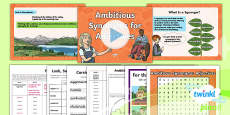 PlanIt Y6 Term 1A W1: Ambitious Synonyms for Adjectives Spelling Pack