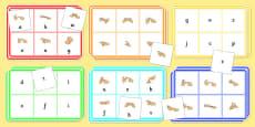 British Sign Language Alphabet Bingo And Lotto Game Left Handed