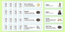 Judaism Word Cards Definitions