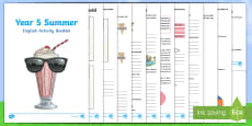 Year 5 Summer English Activity Booklet