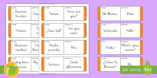 * NEW *Tarjetas de buscar y emparejar: Frases básicas - Inglés