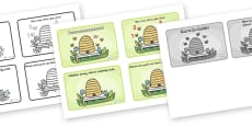 Here is the Beehive Sequencing (4 per A4)