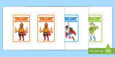 Editable Superhero Group Signs IKEA Tolsby Frame