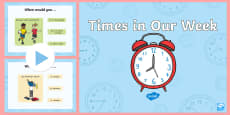 Foundation Times in Our Week PowerPoint