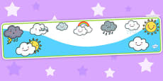 Weather Themed Editable Banner for Publisher