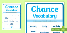Chance Vocabulary Display Poster