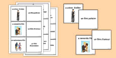 Film Genres Matching Cards French