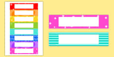 Editable Multicolour Tray Labels