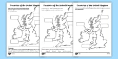 Differentiated Countries of the United Kingdom Labelling Activity Sheet Pack