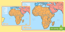 KS1 Geography Continents of the World Posters Africa