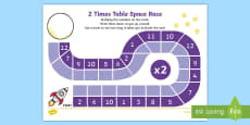 2 Times Table Space Race Activity Sheet