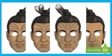 Māui and the Giant Ika Role Play Masks
