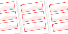 Wales Themed Editable Drawer-Peg-Name Labels (Colourful)