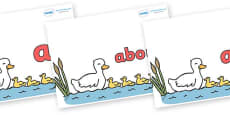 100 High Frequency Words on Five Little Ducks