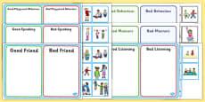 PSHE Behaviour Sorting Activities Resource Pack