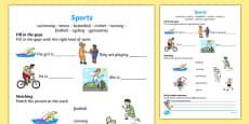 Sports Activity Sheet