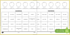 Book Reading Bingo Activity Sheets Mandarin Chinese